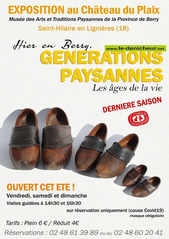 i15 - Jusqu'au 15 septembbre - ST-HILAIRE en Lignières - Générations paysannes (exposition) 0012247