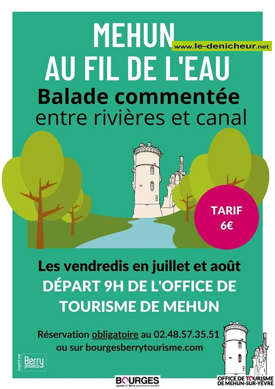 g17 - VEN 17 juillet - MEHUN /Yèvre - Balade commentée ++ 0012268