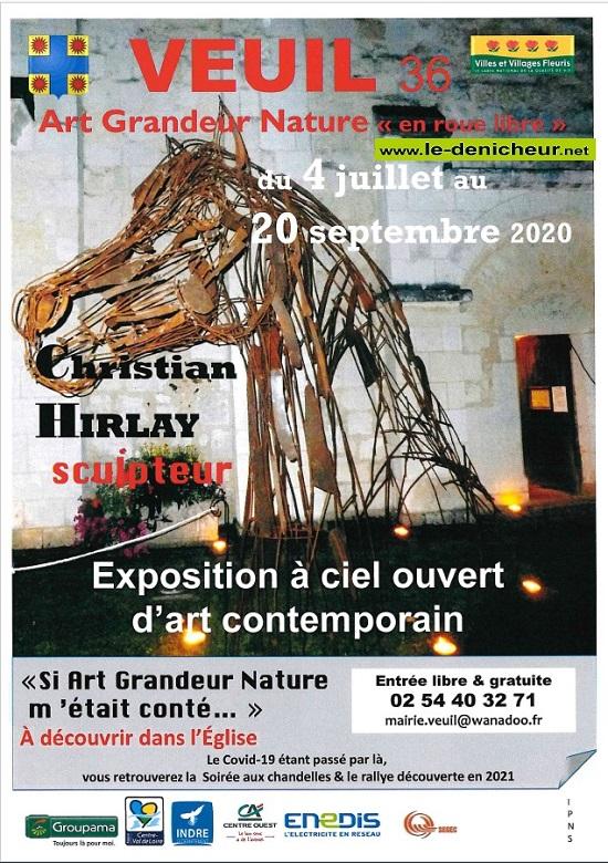i20 - Jusqu'au 20 septembre - VEUIL - Exposition à ciel ouvert d'art contemporain * 0012273