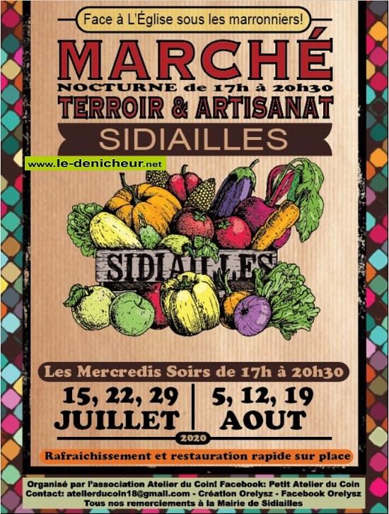 h12 - MER 12 août - SIDIAILLES - Marché Terroir & Artisanat * 0012295