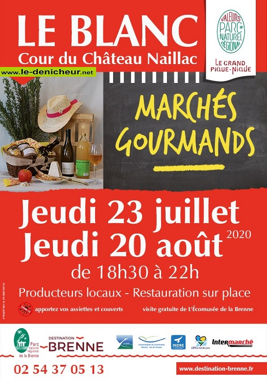 h20 - JEU 20 août - LE BLANC - Marché gourmand * 0012313