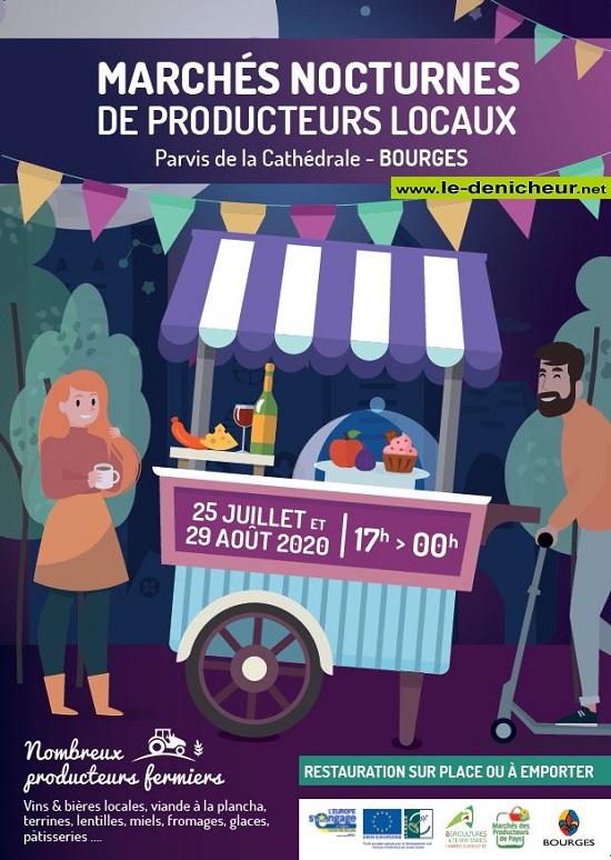 h29 - SAM 29 août - BOURGES - Marché nocturne de producteurs locaux * 0012320