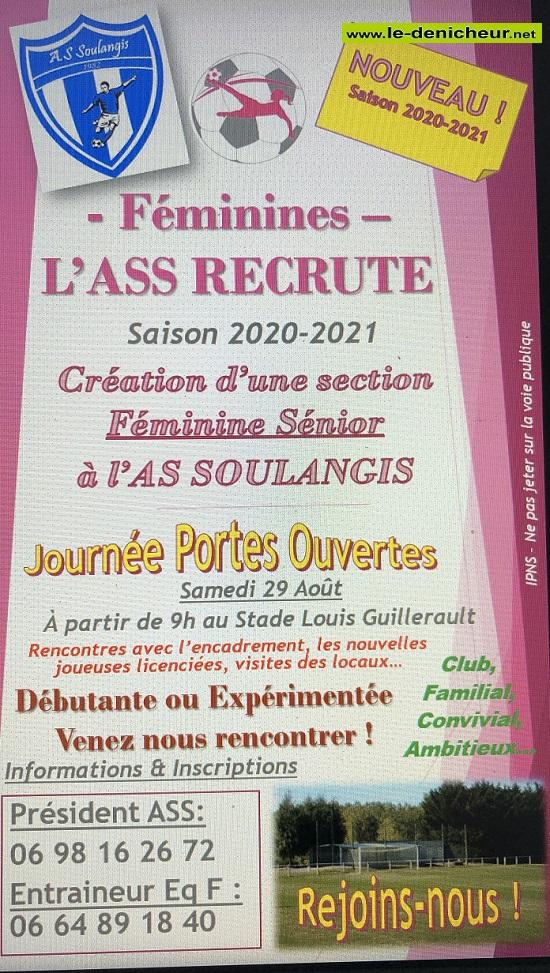 SOULANGIS (18)  -  L'ASS recrute - Création d'une Section Féminine Séniors 0012325