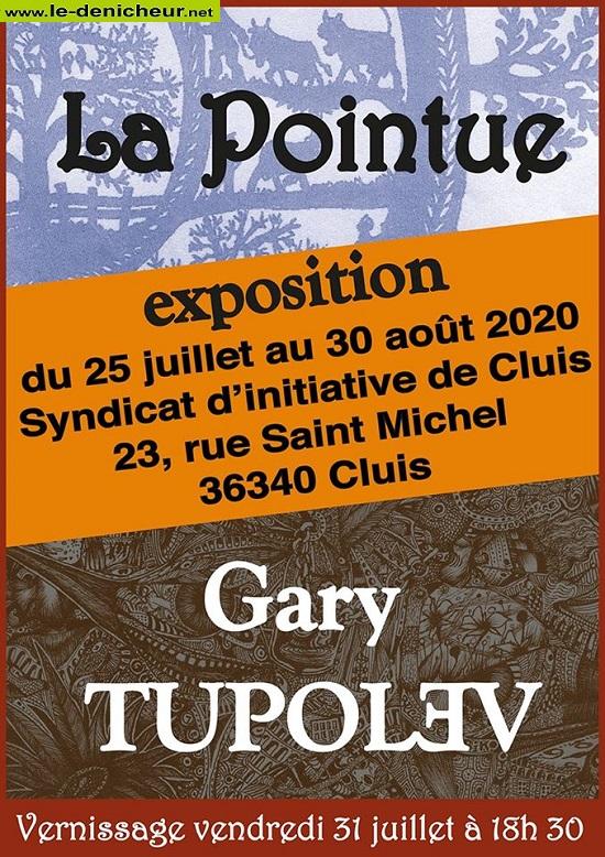 """h30 - Jusqu'au 30 août - CLUIS - Exposition """"La pointue""""  0012336"""