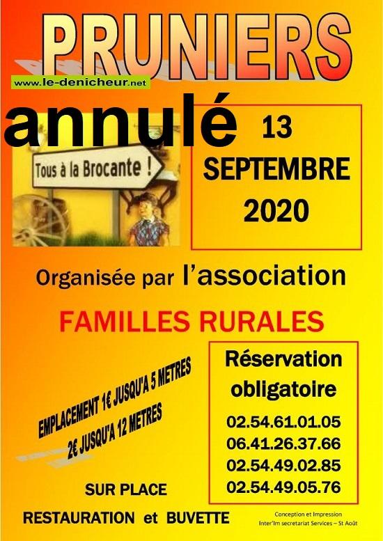 i13 - DIM 13 septembre - PRUNIERS - Brocante annulée */ 0012346