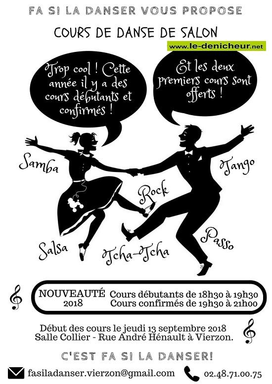VIERZON - Cours de danse de salon .*/ 001238