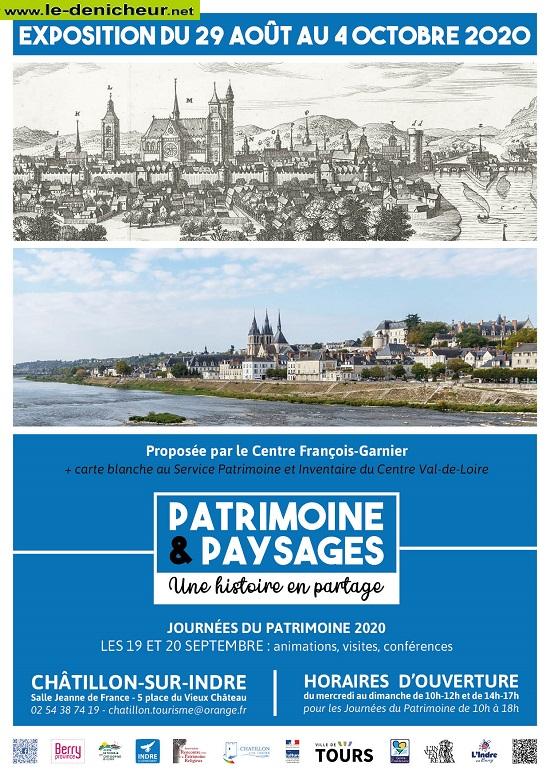 """j04 - Jusqu'au 4 octobre - CHATILLON /Ibndre - Expo:Patrimoine et paysages: une histoire en partage"""" 0012465"""