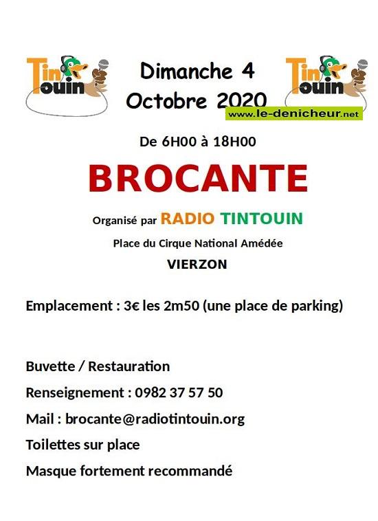 j04 - DIM 04 octobre - VIERZON - Brocante _* 0012466