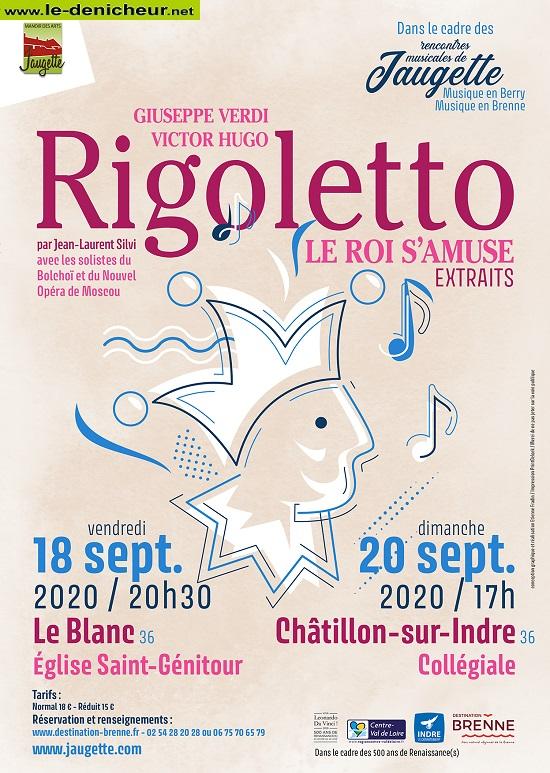 i20 - DIM 20 septembre - CHATILLON /Indre - Rigoletto */ 0012475
