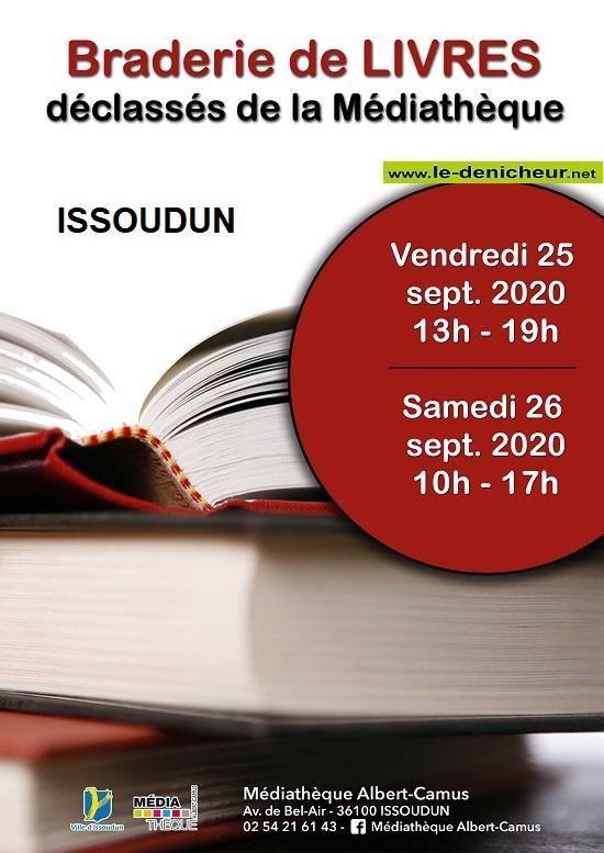 i26 - SAM 26 septembre - ISSOUDUN - Braderie de livres */ 0012492