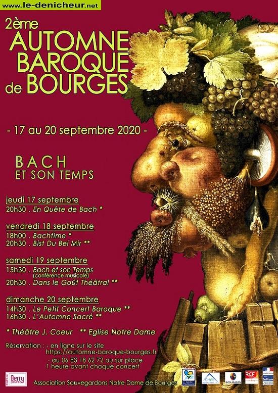 i18 - VEN 18 septembre - BOURGES - Automne Baroque * 0012501