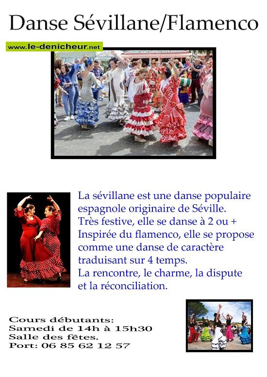SAM 17 octobre - CHATEAUNEIUF /Cher - Cours d'essais gratuit Danse Sevillane/Flamenco  0012553