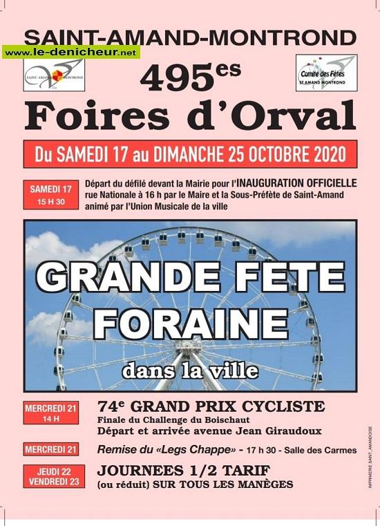 j17 - Du 17 au 25 octobre - FOIRES D'ORVAL * 0012589
