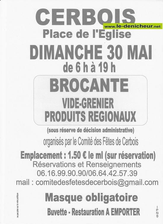 q30 - DIM 30 mai - CERBOIS - Brocante du comité des fêtes _* 0012649