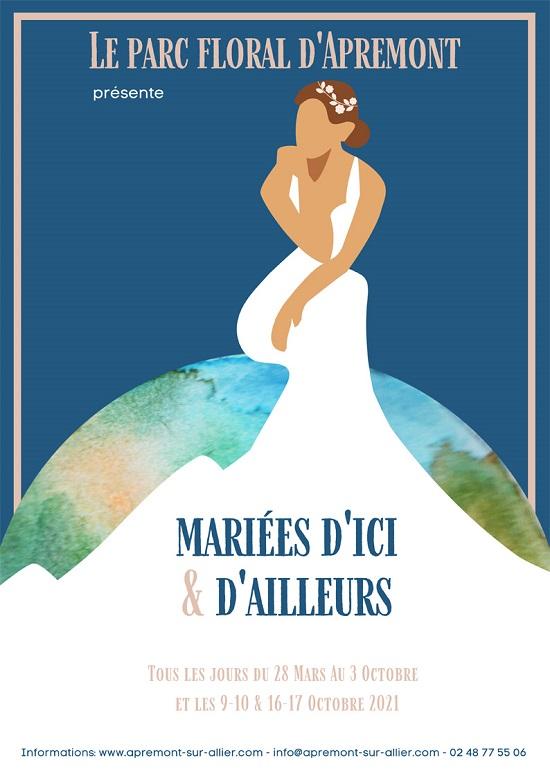 v03 - Jusqu'au 3 octobre - APREMONT /Allier -  Exposition des robes de mariées * 0012652