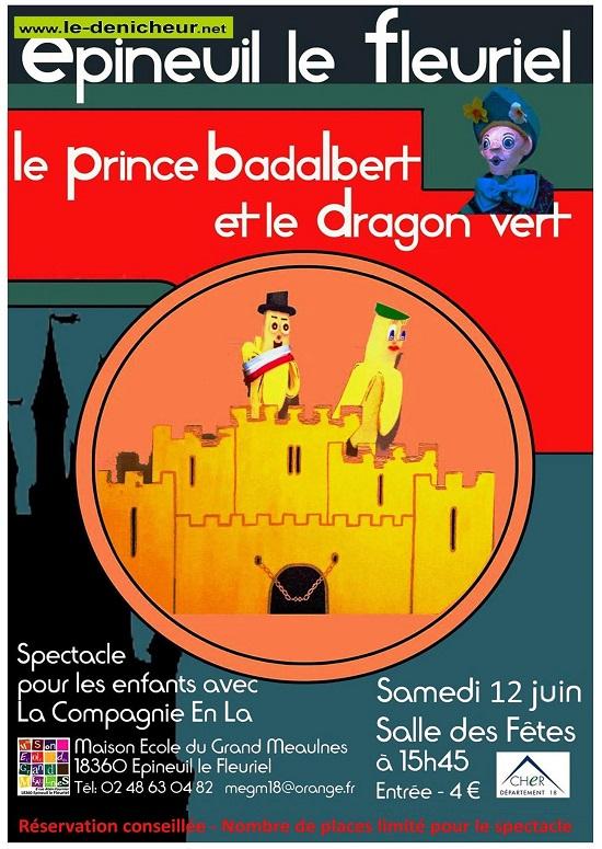 r19 - SAM 19 juin - EPINEUIL LE FLEURIEL - Spectacle pour enfants * 0012666