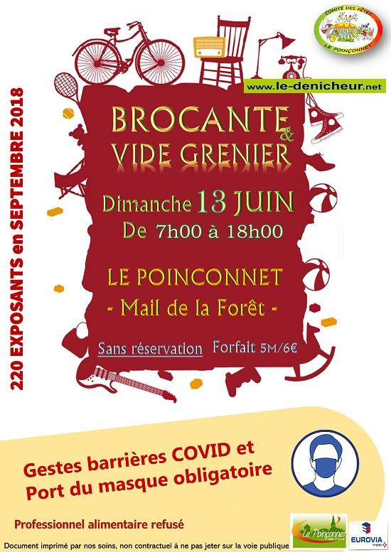 r13 - DIM 13 juin - LE POINCONNET - Brocante du comité des fêtes _* 0012673