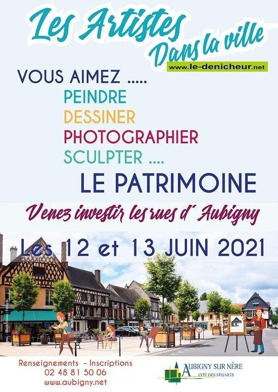 r13 - DIM 13 juin - AUBIGNY /Nère - Les Artistes dans la Ville _* 0012675