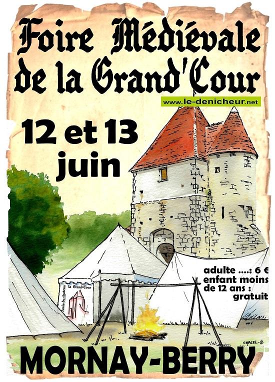 r13 - DIM 13 juin - MORNAY-BERRY - Fête Médiévale _* 0012677