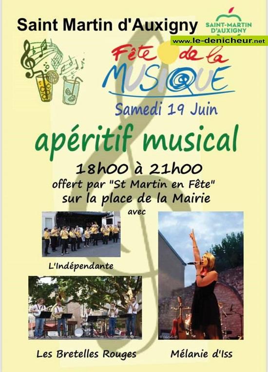 r19 - SAM 19 juin - ST-MARTIN D'AUXIGNY - Fête de la Musique * 0012681