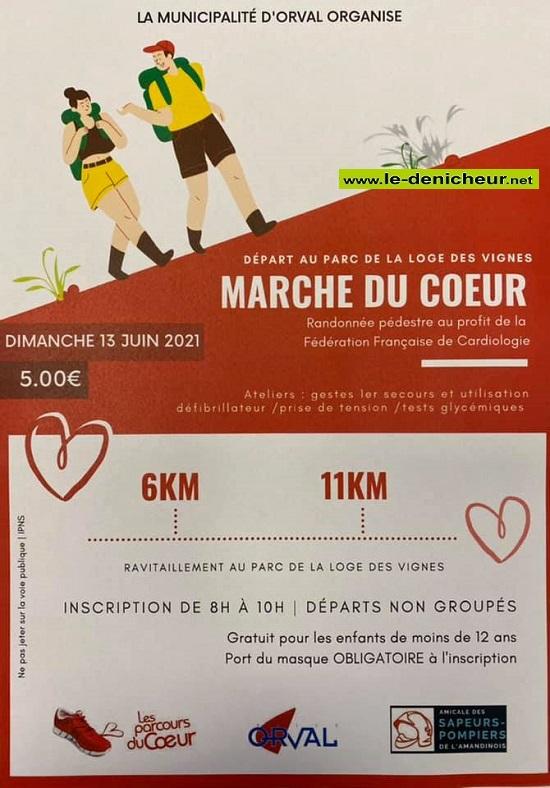 r13 - DIM 13 juin - ORVAL - Marché du Coeur * 0012687