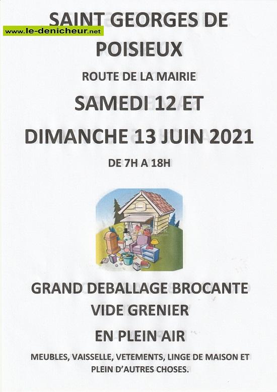 r13 - DIM 13 juin - ST-GEORGES DE POISIEUX - Vide maison _* 0012690