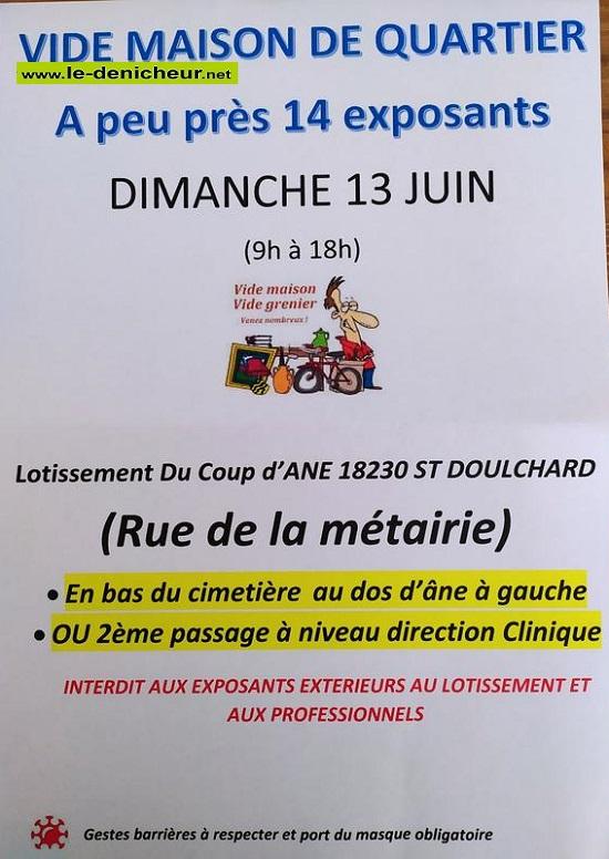 r13 - DIM 13 juin - ST-DOULCHARD - Vide Maison de Quartier _* 0012694