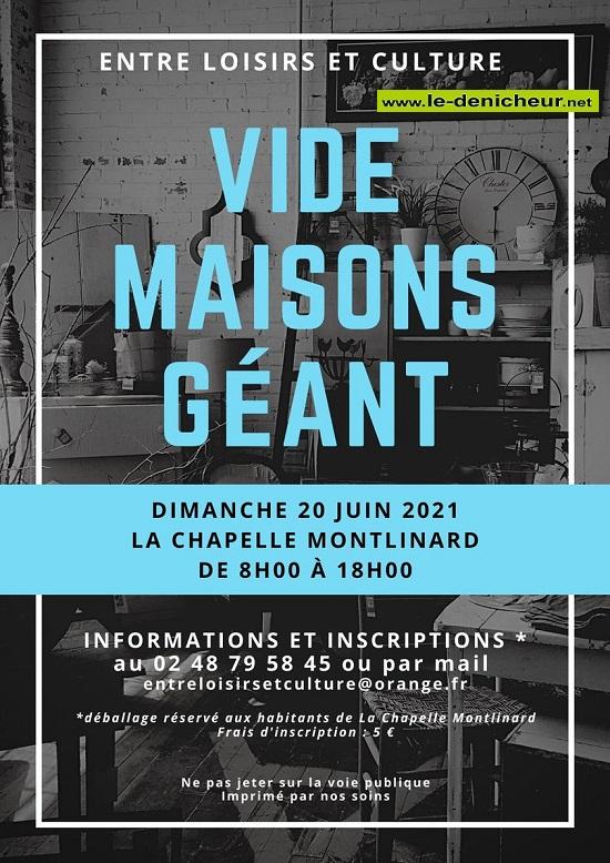 r20 - DIM 20 juin - LA CHAPELLE MONTLINARD - Vide Maisons Géant _* 0012698