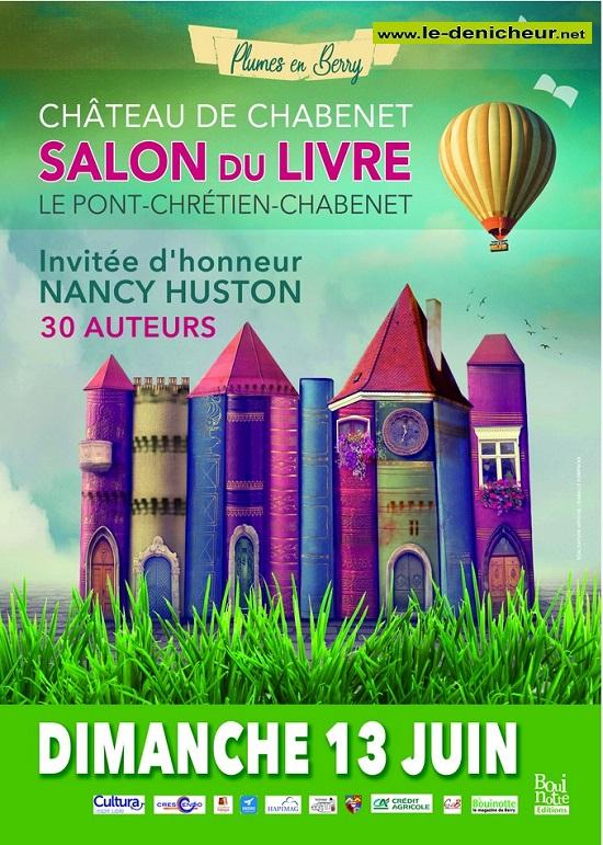 r13 - DIM 13 juin - LE PONT CHRETIEN-CHABENET - Salon du Livre * 0012699