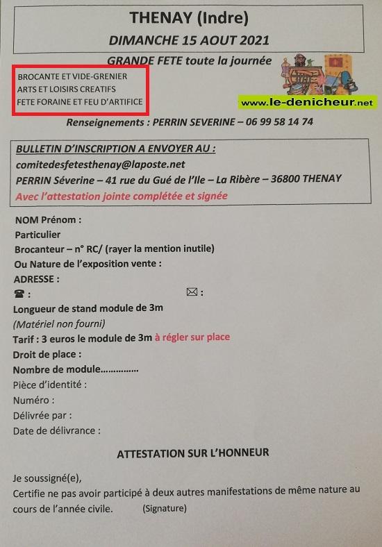 t15 - DIM 15 août - THENET - Brocante du comité des fêtes * 0012751