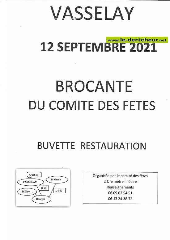 u12 - DIM 12 septembre - VASSELAY - Brocante du comité des fêtes _* 0012754