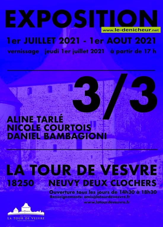 t01 - Jusqu'au 1er août - NEUVY DEUX CLOCHERS - Exposition _* 0012797