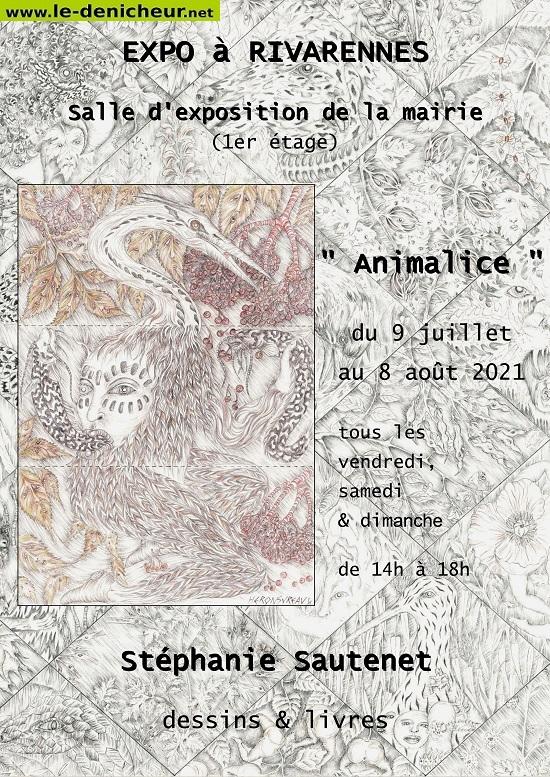 """t08 - Jusqu'au 08 août - RIVARENNES - Exposition """"Animalice"""" 0012804"""