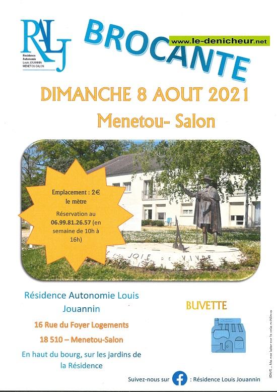t08 - DIM 08 août - MENETOU-SALON - Brocante _* 0012851