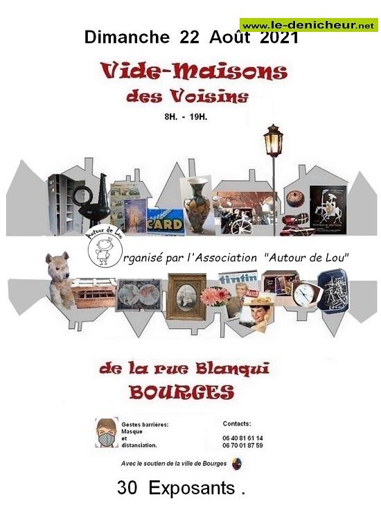 t22 - DIM 22 août - BOURGES - Vide-maisons des voisins _* 0012859