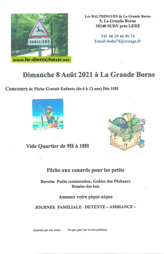 t08 - DIM 08 août - SURY Près Léré - Vide Quartier 0012861