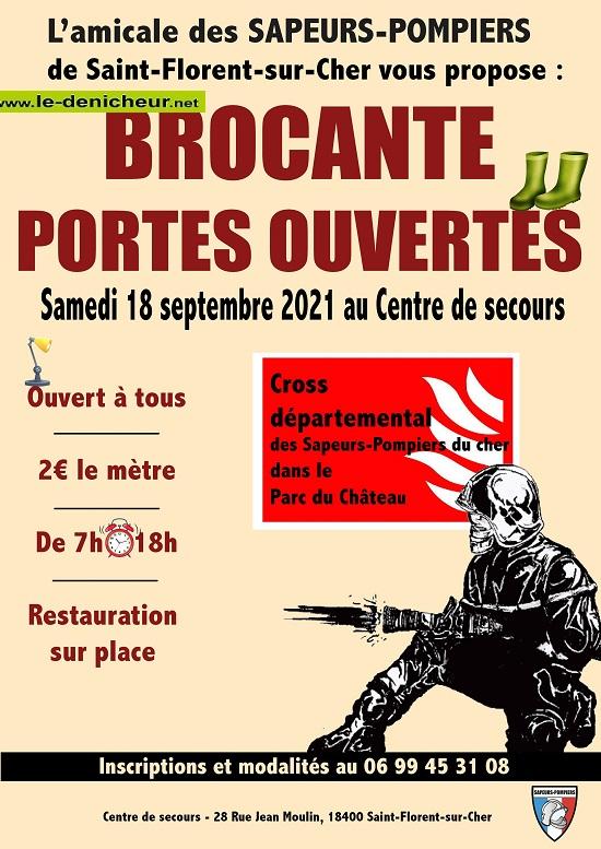 u18 - SAM 18 septembre - ST-FLORENT /Cher - Brocante des pompiers _* 0012965
