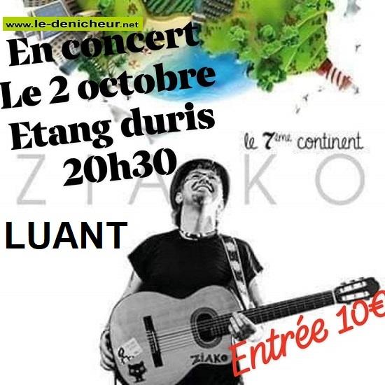 v02 - SAM 02 octobre - LUANT - Ziako en concert */ 0013045