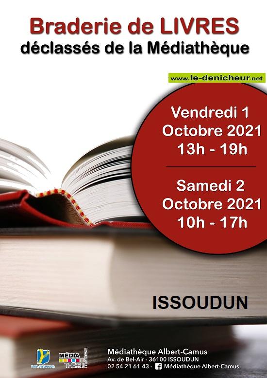 v02 - SAM 02 octobre - ISSOUDUN - Braderie de livres de la médiathèque */ 0013065