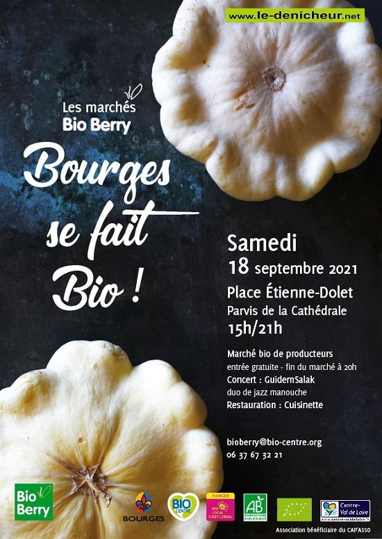 u18 - SAM 18 septembre - BOURGES - Marché bio de producteurs _* 0013072