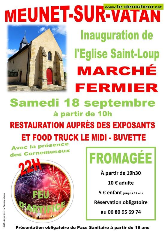 u18 - SAM 18 septembre - MEUNET /Vatan - Marché fermier - Feu d'artifice _* 0013073