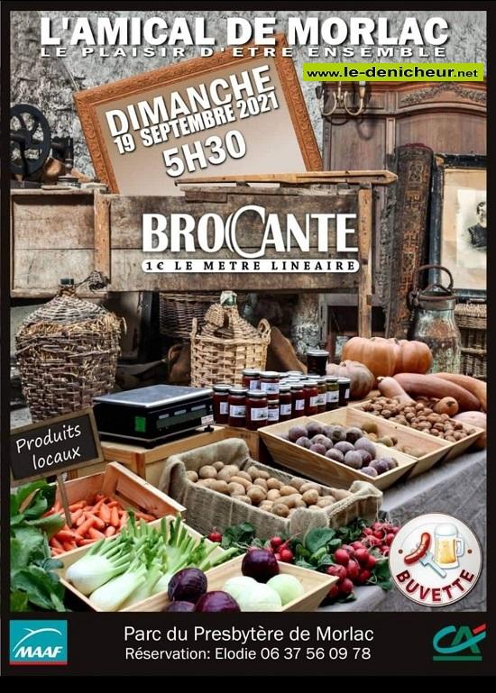u19 - DIM 19 septembre - MORLAC - Brocante _* 0013077