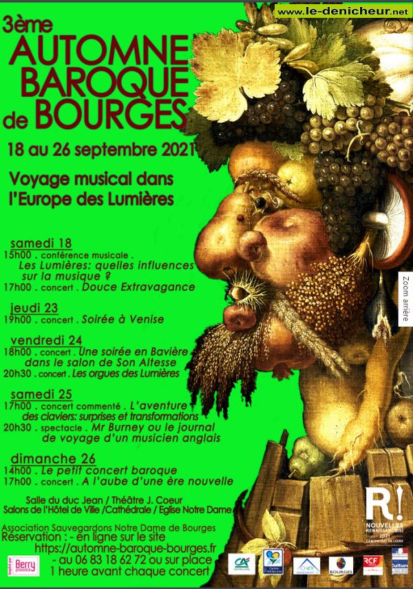 u25 - SAM 25 septembre - BOURGES - 3ème Automne Baroque de Bourges * 0013078
