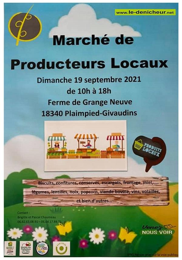 u19 - DIM 19 septembre - PLAIMPIED-GIVAUDINS - Marché de Producteurs Locaux * 0013079