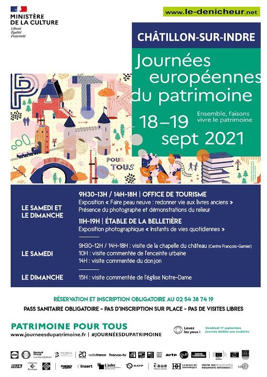 u18 - SAM 18 septembre - CHATILLON /Indre - Journées Européennes du Patrimoine  0013080