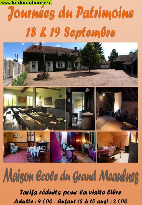 u19 - DIM 19 septembre - EPINEUIL LE FLEURIEL - Journées du Patrimoine * 0013088
