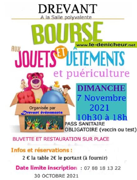 w07 - DIM 07 novembre - DREVANT - Bourse aux jouets et vêtements _* 0013106