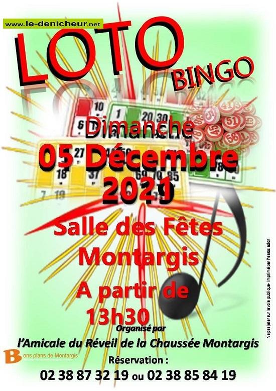 x05 - DIM 05 décembre - MONTARGIS - Loto de l'A.R.C.M _* 0013109