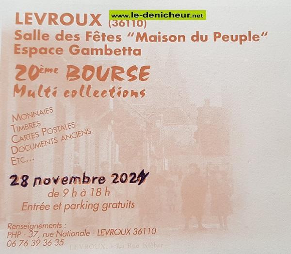 w28 - DIM 28 novembre - LEVROUX - 20ème Bourse Multi Collections _* 0013149