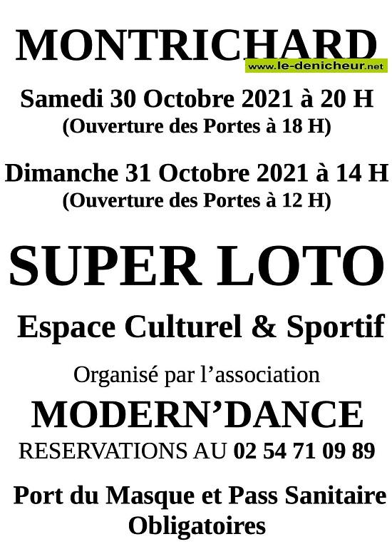 v31 - DIM 31 octobre - MONTRICHARD - Loto de Modern'Dance  0013212